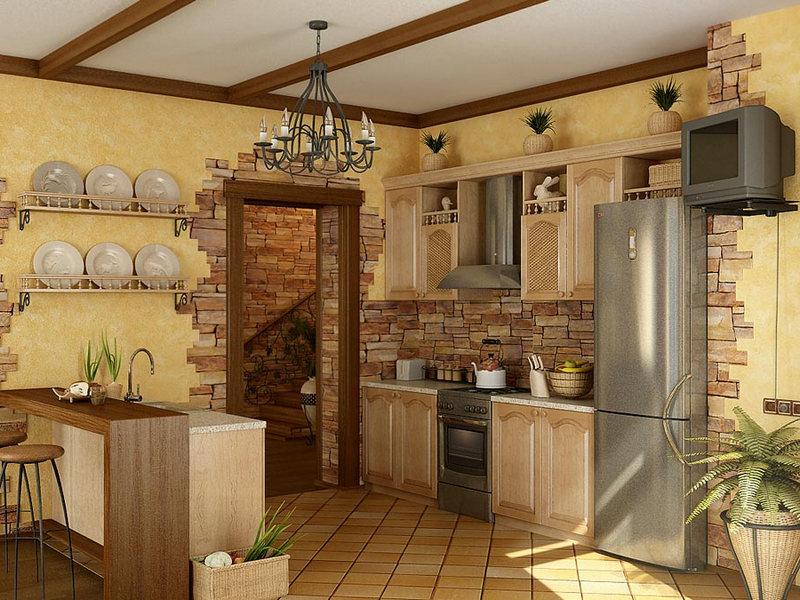 Отделка стен на кухне своими руками