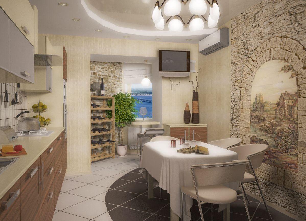 фото отделка стен в кухне