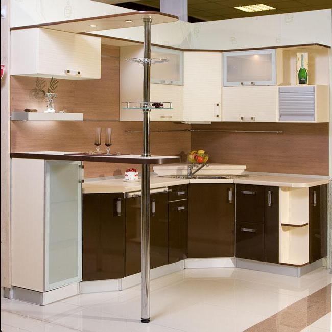 Дизайн угловой кухни с угловой мойкой