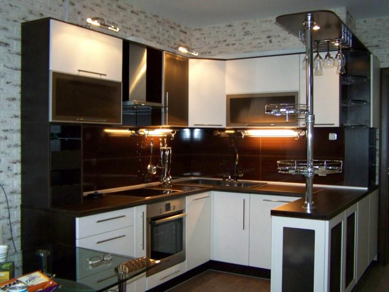 Дизайн кухни цвет венги