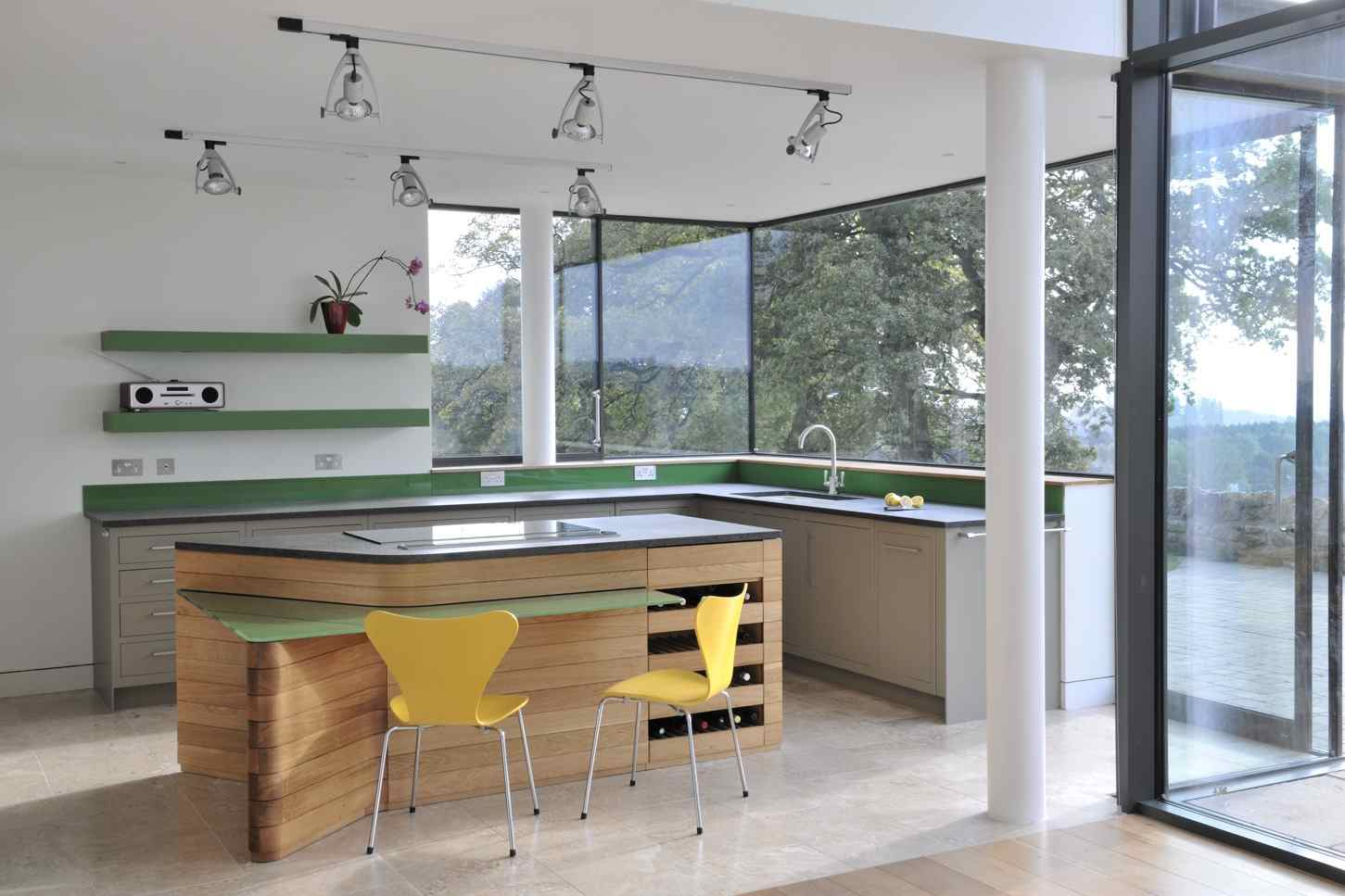 фото островная кухня